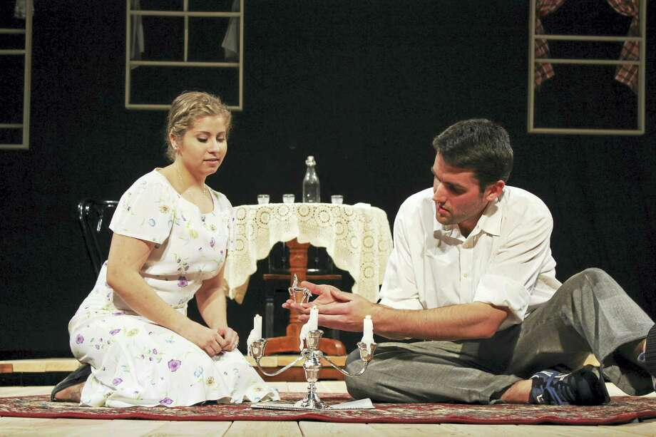 Contributed photoNicole Thomas as Laura and Matthew Albert as Tom in a scene from The Glass Menagerie at the Thomaston Opera House. Photo: Journal Register Co.