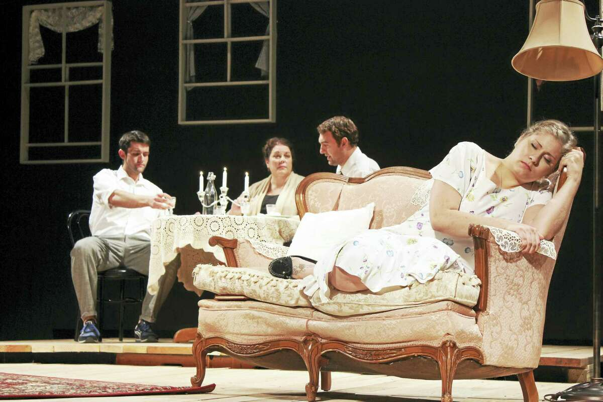 """Contributed photoThe cast of """"The Glass Menagerie"""" in a scene from the play, running at the Thomaston Opera House."""