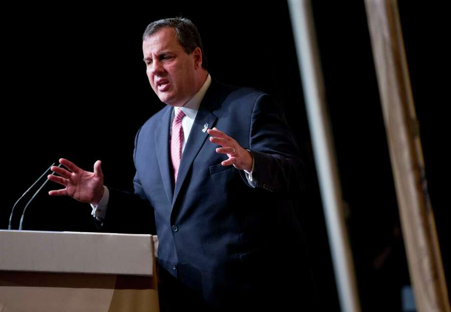 New Jersey Gov. Chris Christie speaks at the Road to Majority 2015 convention in Washington, Friday, June 19, 2015. (AP Photo/Pablo Martinez Monsivais) Photo: AP / AP
