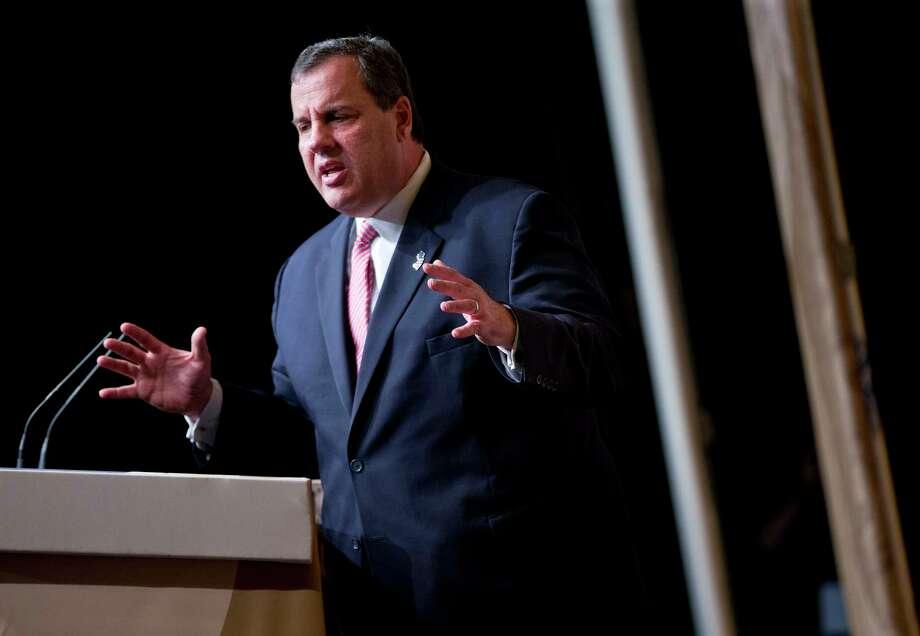 New Jersey Gov. Chris Christie speaks at the Road to Majority 2015 convention in Washington, Friday, June 19, 2015. (AP Photo/Pablo Martinez Monsivais) Photo: AP / AP