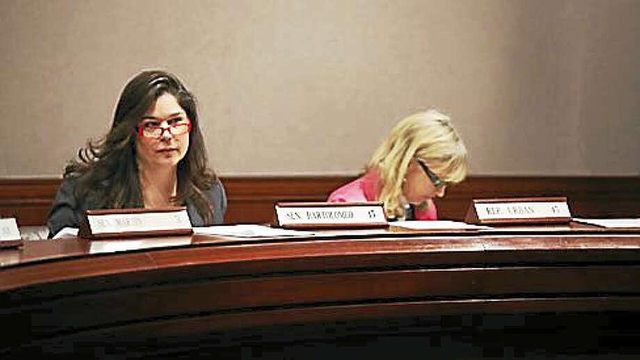 Sen. Dante Bartolomeo and Rep. Diana Urban, co-chairs of the Children's Committee. Photo: Christine Stuart — CT News Junkie