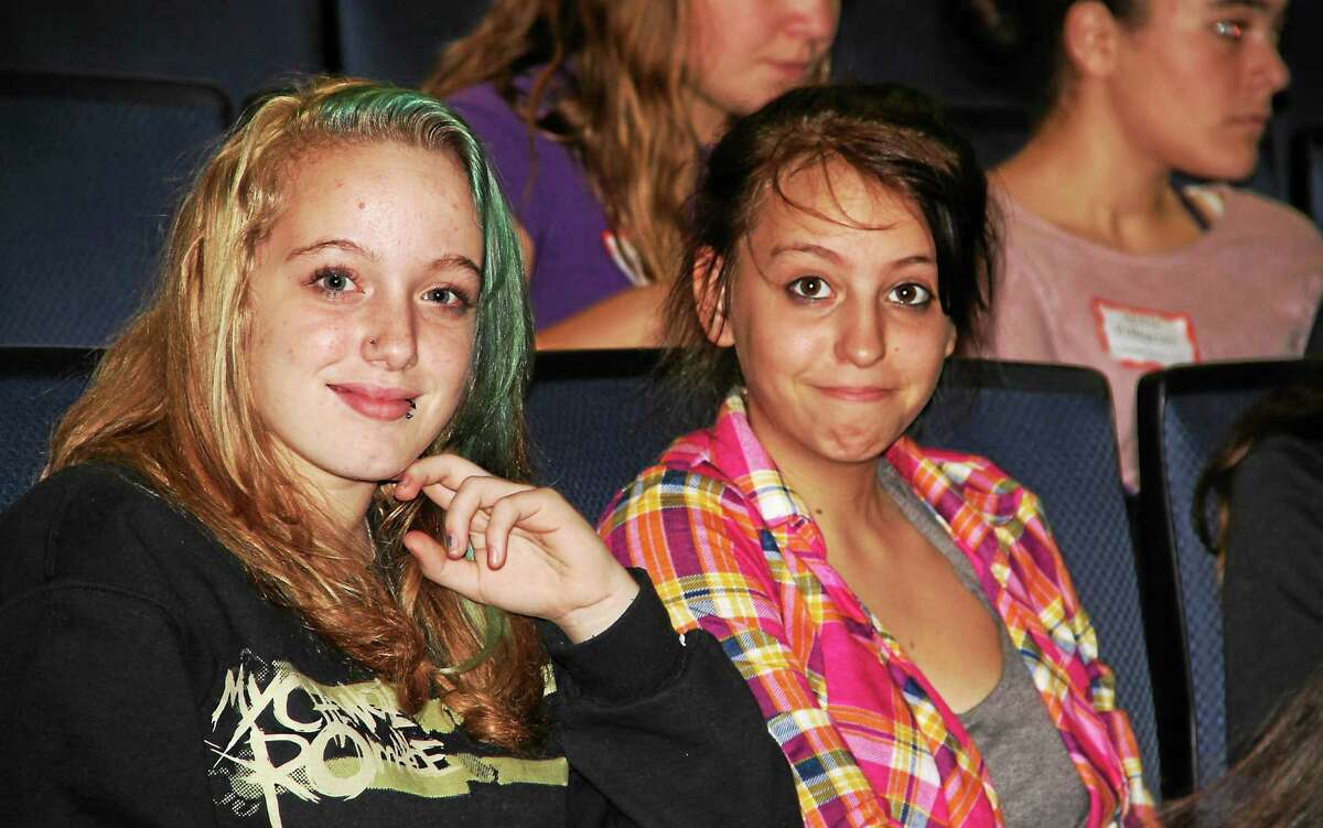 Andrea Kissko and Paige O'Brien, both students at Torrington Middle School, at the Second Annual Girls Summit held Friday at the University of Connecticut Torrington campus.