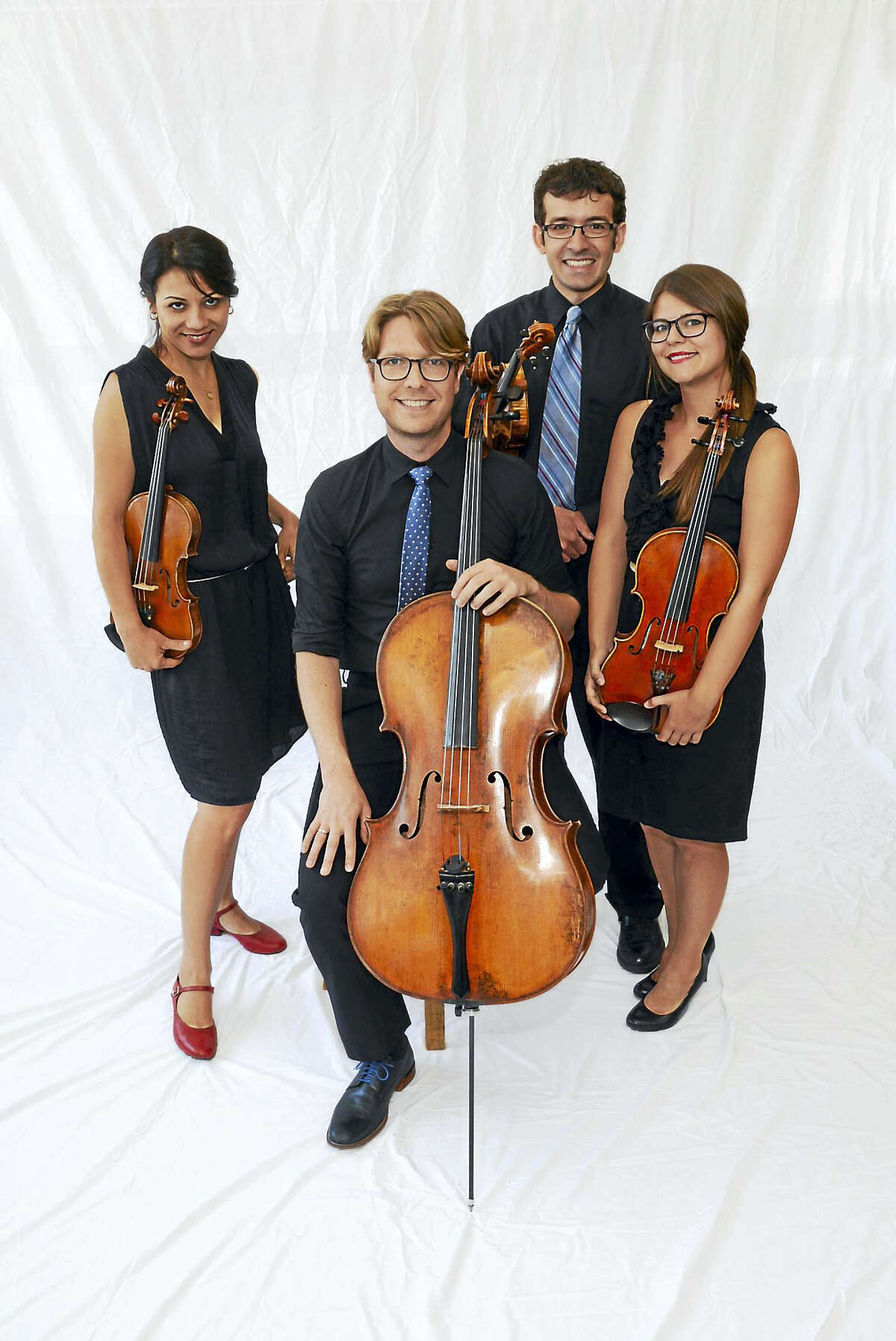 From left, Yaira Matyakubova, Philip Boulanger, Gregory Tompkins and Annalisa Boerner of the Haven String Quartet.
