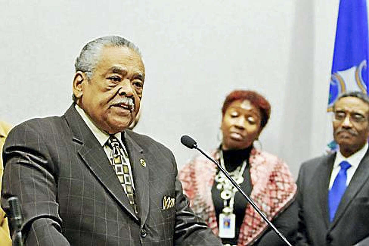 Sen. Ed Gomes of Bridgeport talks about his criminal past. (Courtesy of the Senate Democrats)