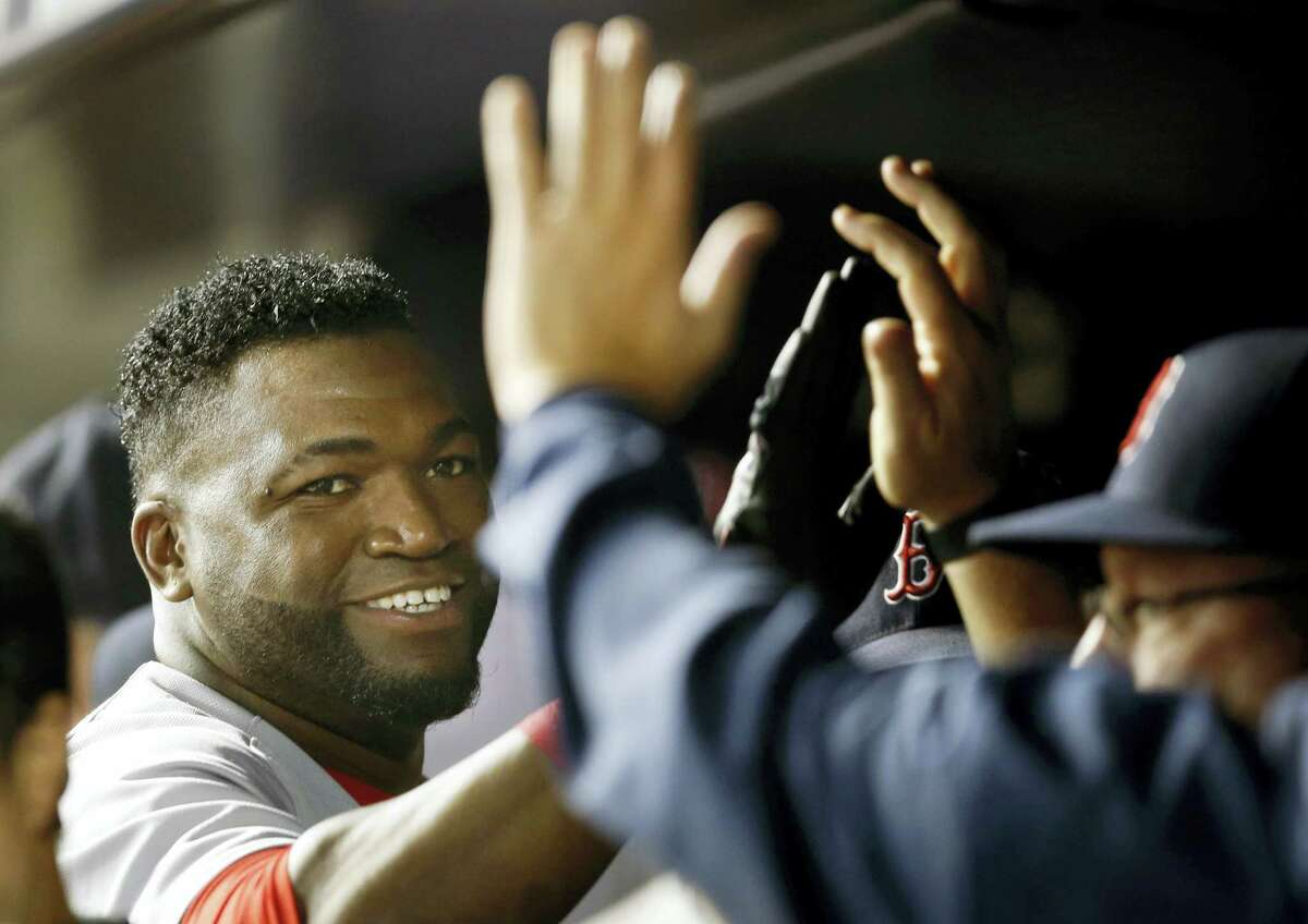 David Ortiz, left, hopes his 20th and final big league season will be up to the standard he has set for himself.