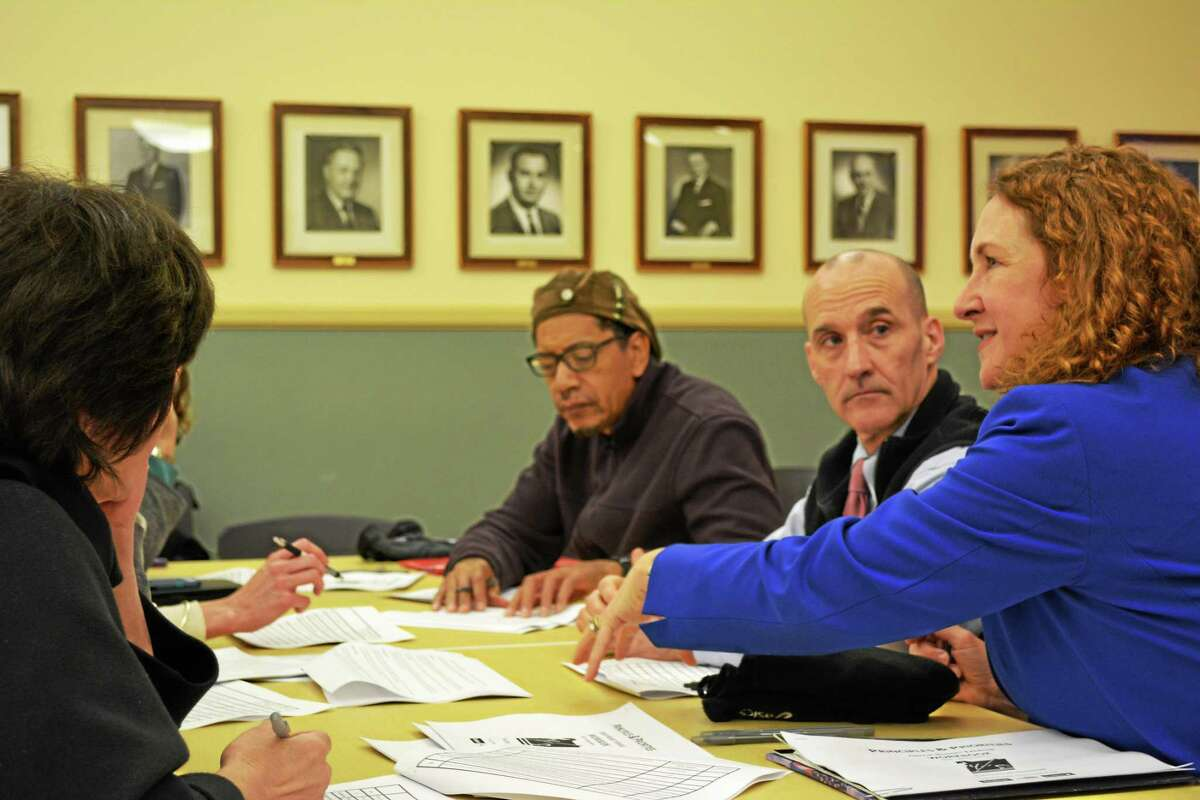 Members of the public sat down with Esty and discussed the difficulties of crafting a budget.