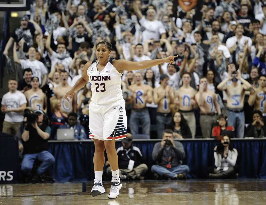 UConn's Kaleena Mosqueda-Lewis needs 25 points to become the eighth Husky to score 2,000 career points. Photo: The Associated Press File Photo  / AP2015