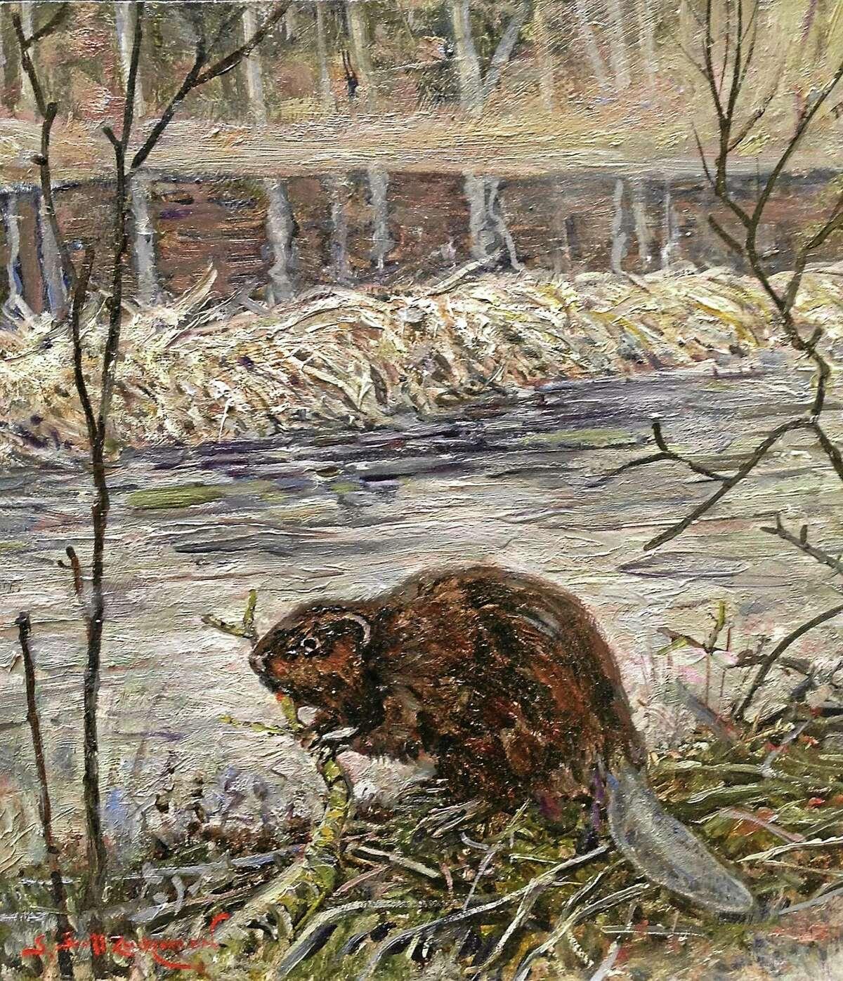 Contributed image Scott Zuckerman's painting, 'Engineer.