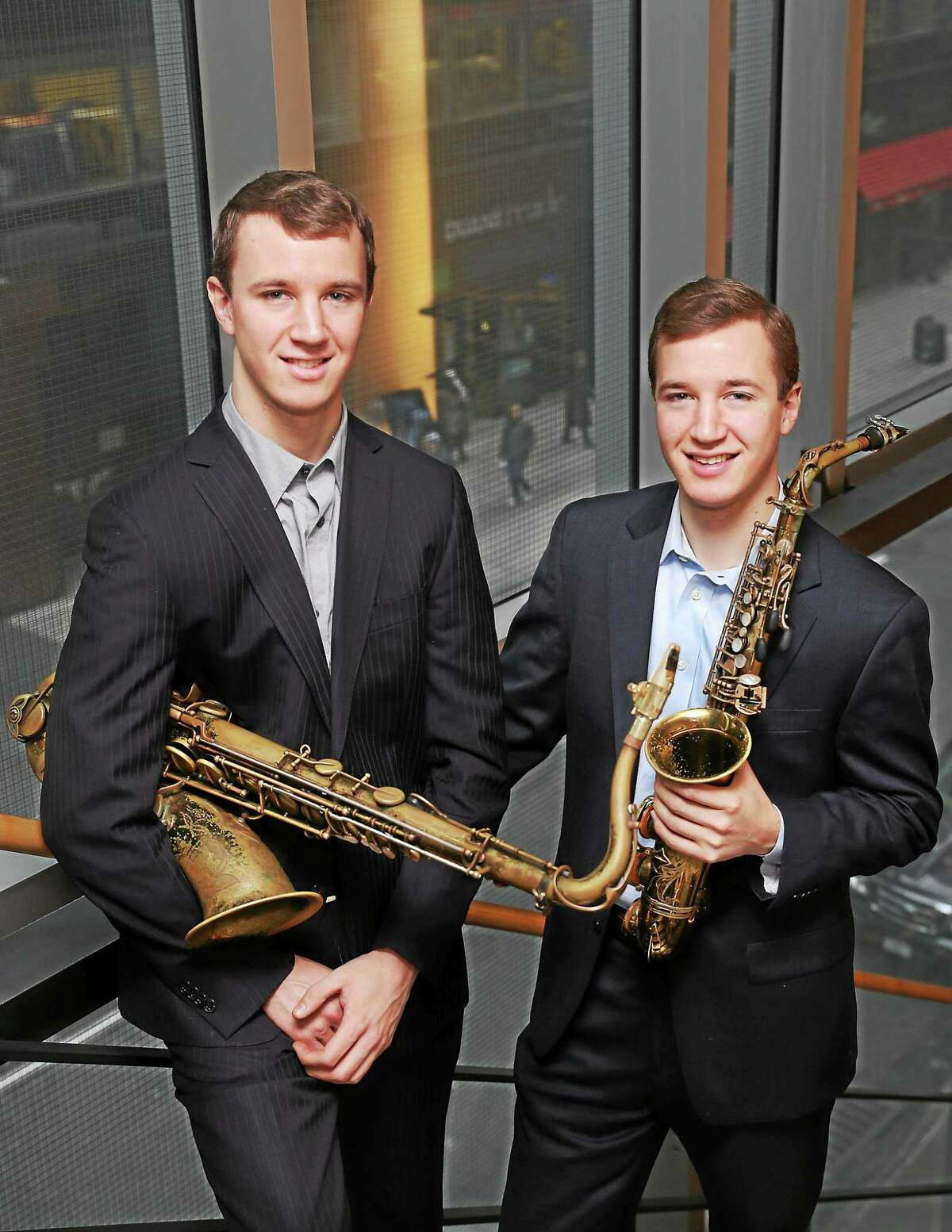 Contributed photo The Anderson Twins are among the performers in Music Mountain's jazz series this summer.
