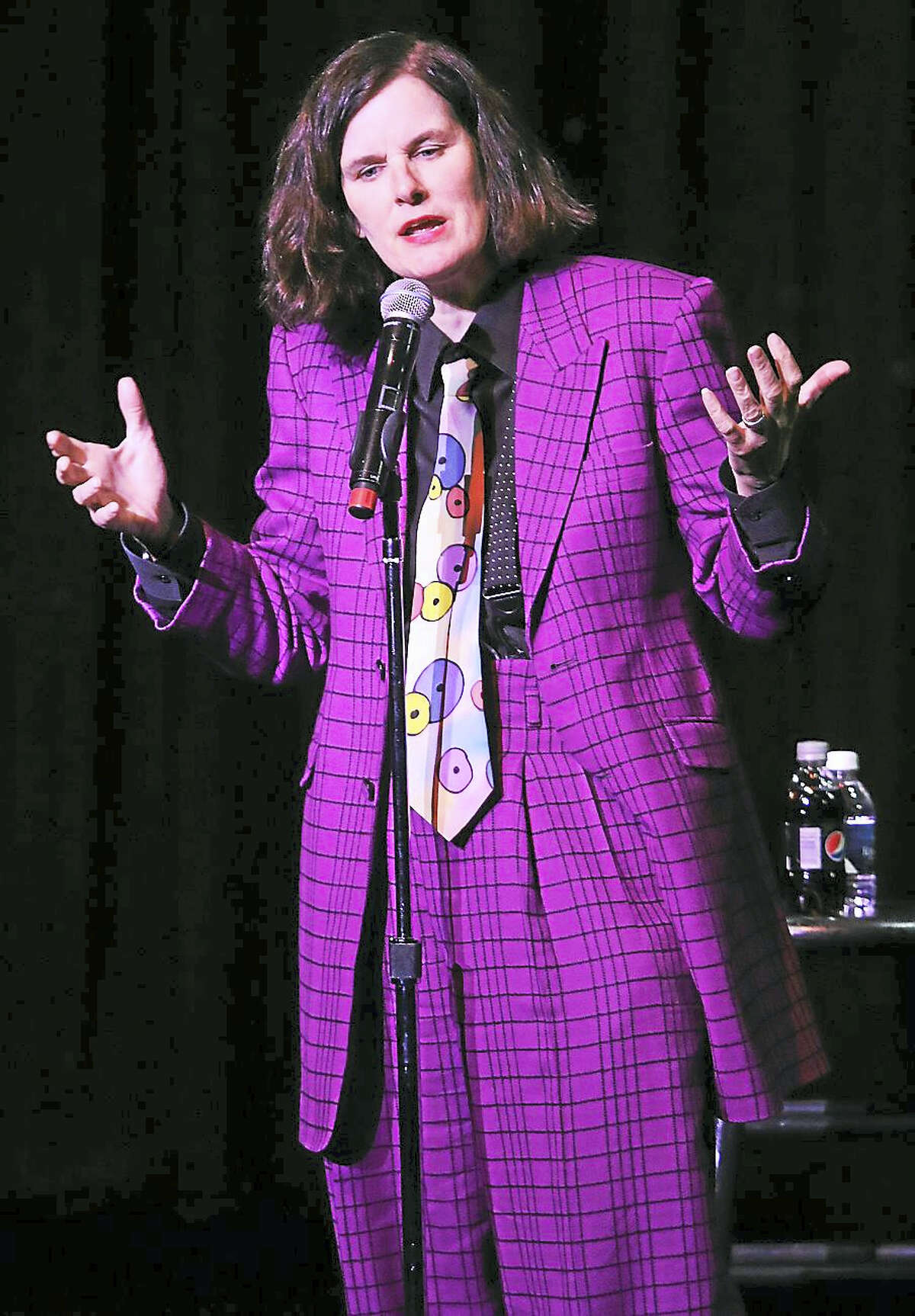 Photo by John AtashianComedian, author, actress, interviewer and commentator, Paula Poundstone performs for her fans at the Foxwoods Resort Casino on Friday, Feb. 19. Her hilarious comedy show involved plenty of crowd interaction and real life humor. The show was a big hit with the capacity crown in attendance inside of the Fox Theater. To learn more about Paula Poundstone, go to www.paulapundstone.com.