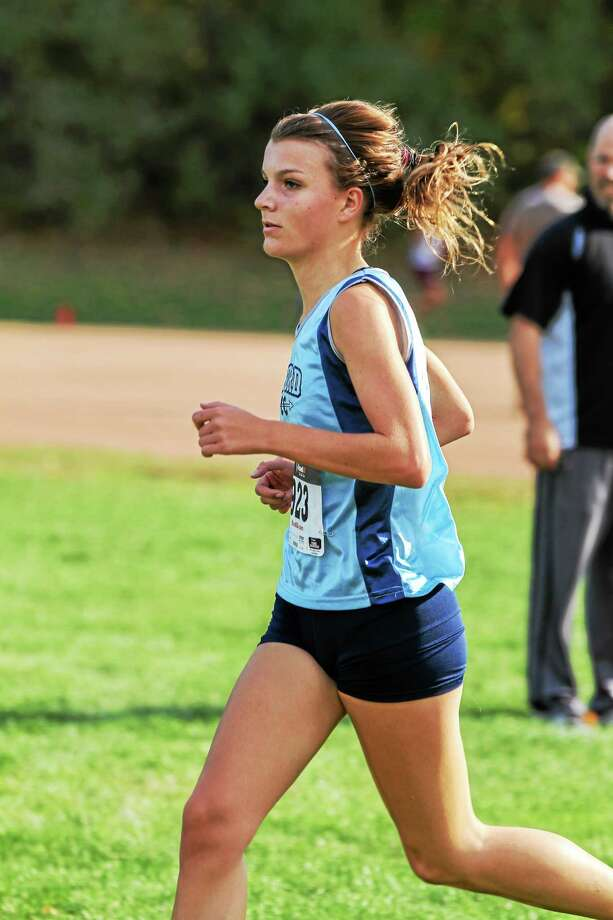 Kristen Barbaris was the first place finisher for the girls Photo: Marianne Killackey — Register Citizen  / 2015