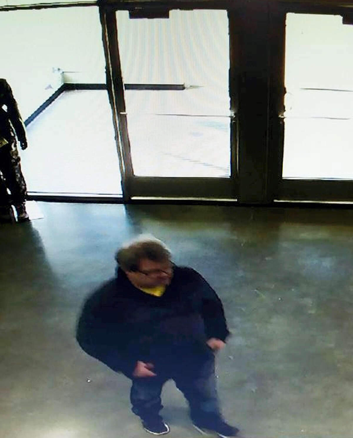 In this Saturday, Feb. 20, 2016 photo provided by Southwick's gun store, Jason Dalton appears in the gun store in Plainwell, Mich., hours before he went on a shooting rampage. Dalton admitted to gunning down randomly chosen victims in and around Kalamazoo, Mich., — attacks apparently carried out over hours during which he also ferried passengers around town as an Uber driver.