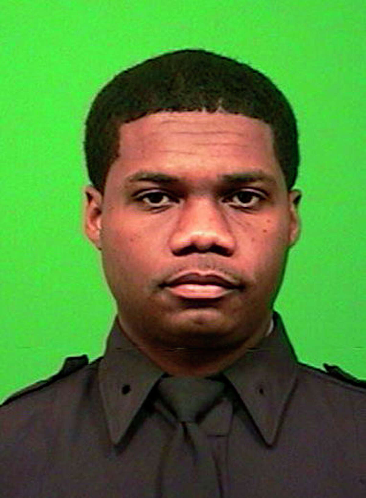 A photo, date not known, provided by the New York Police Department shows police Officer Randolph Holder, who police said died after being shot in the head in a gun battle while pursuing a suspect on Oct. 20, 2015 in New York following a report of shots fired.