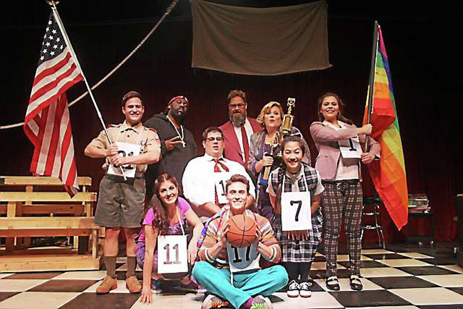 """Contributed photo  The cast of Seven Angels Theater's """"25th Annual Putnam County Spelling Bee"""" at the theater in Waterbury. Performance continue until Nov. 1. Photo: Journal Register Co."""