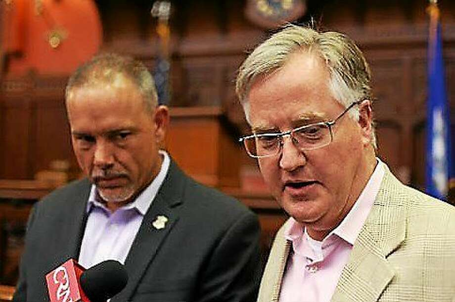 House Speaker Brendan Sharkey and House Majority Leader Joe Aresimowicz Photo: Christine Stuart Photo, CTNewsJunkie