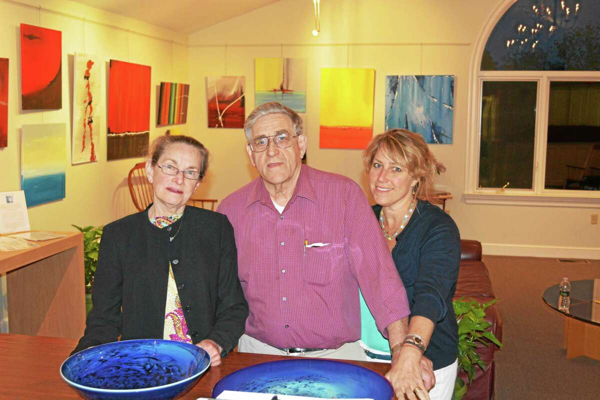 Contributed photoCarol, Dick and Krista Marti welcome visitors to the open studio event this weekend in Bethlehem.