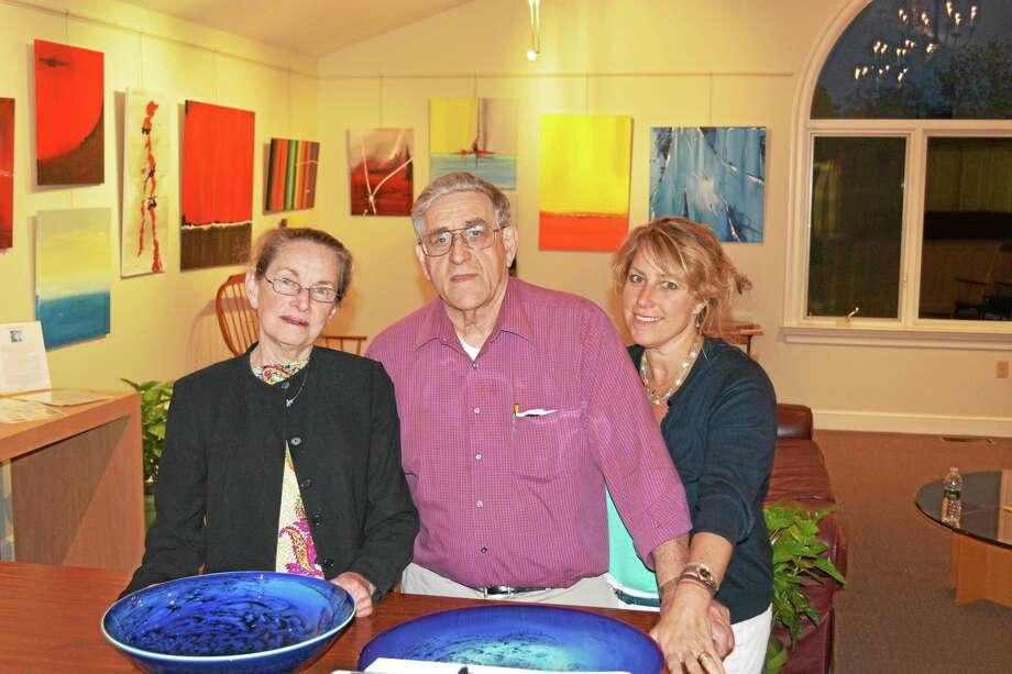 Contributed photoCarol, Dick and Krista Marti welcome visitors to the open studio event this weekend in Bethlehem. Photo: Journal Register Co.