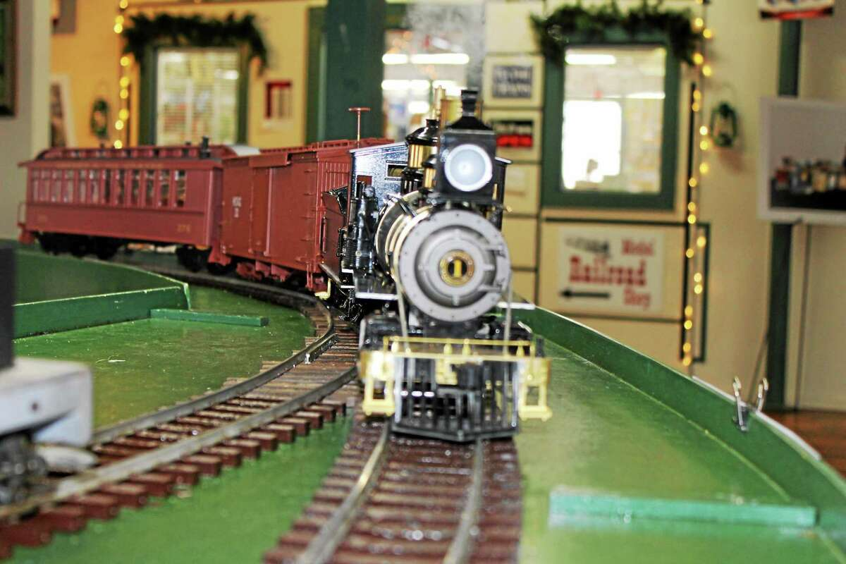 A live Steam Model Train show with G-scale trains running on real steam was featured at Whiting Mills in Winsted on Saturday.