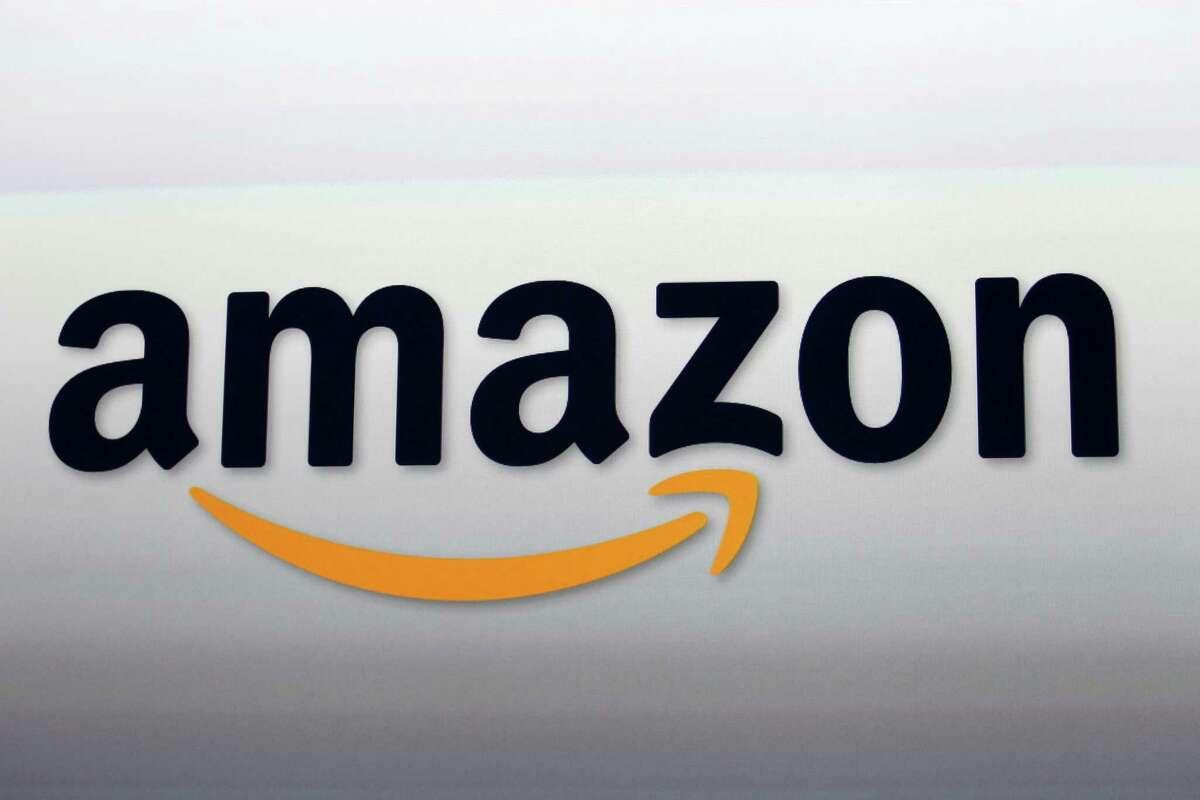 This Sept. 6, 2012 photo, shows the Amazon logo in Santa Monica, Calif.