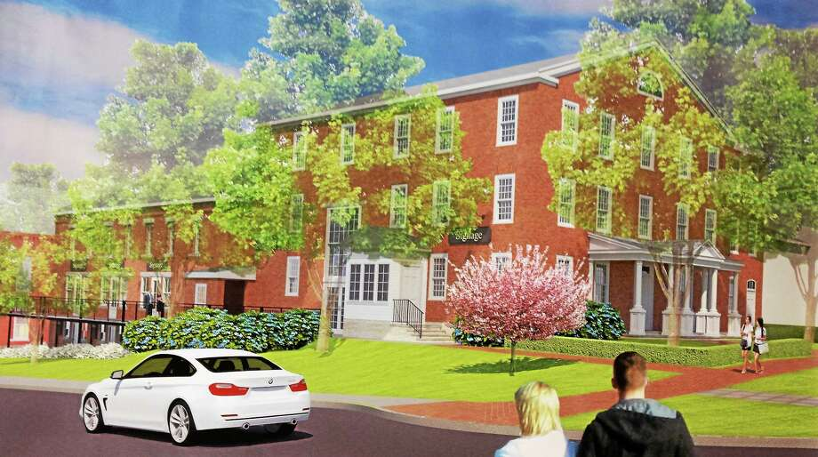 CONTRIBUTED This rendering shows the concept for the old jail site as submitted by the developer in May. However, with the special conditions set by the commission, some details would change. The project must also go before town land-use boards. Photo: Journal Register Co.