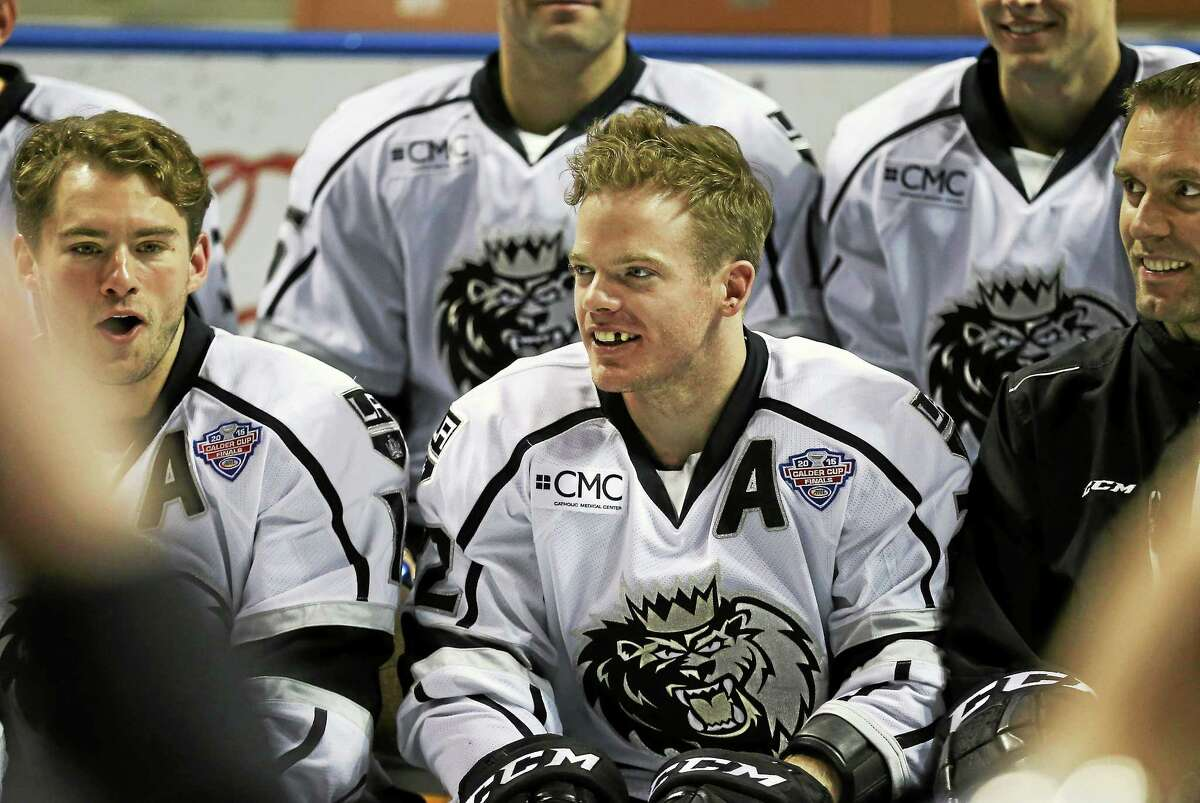 The Manchester Monarchs' Brian O'Neill, a former star at Yale, was named the AHL MVP this season and helped lead his team to the Calder Cup.