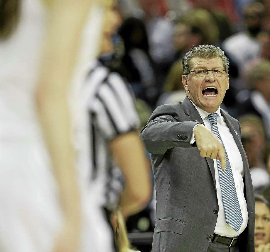 UConn women's basketball coach Geno Auriemma has another talented group of freshmen on campus. Photo: John Raoux — The Associated Press File Photo  / AP