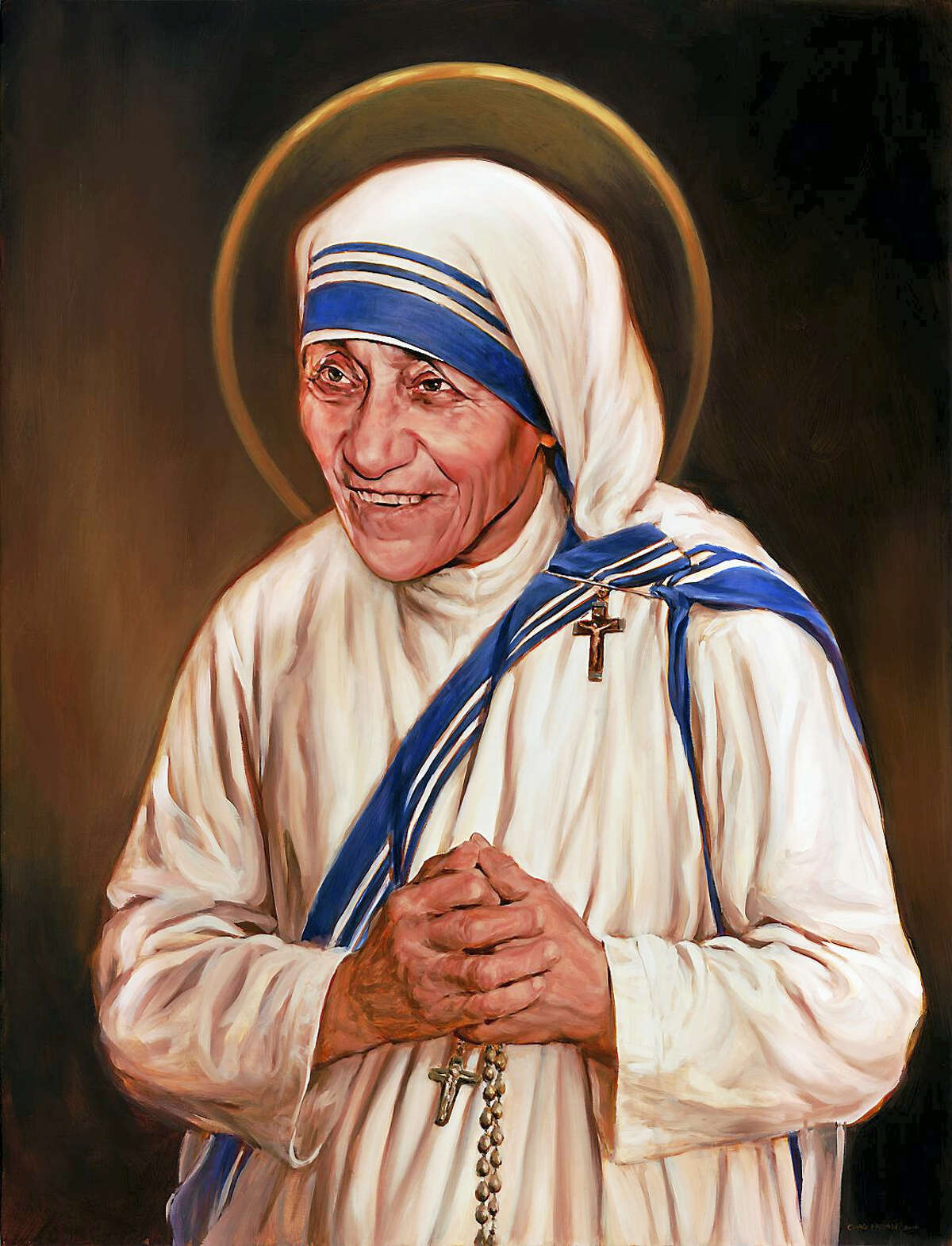 The canonization portrait of Mother Teresa by Chas Fagan that was commissioned by the Knights of Columbus.