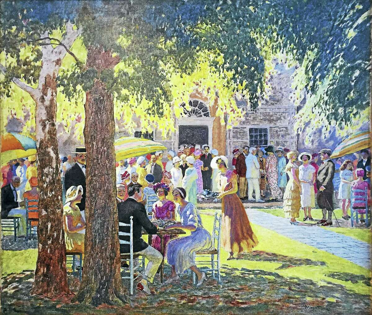 Contributed photoTea Day 1931: The Art Community at Old Lyme, on display at the Mattatuck Museum in Waterbury.