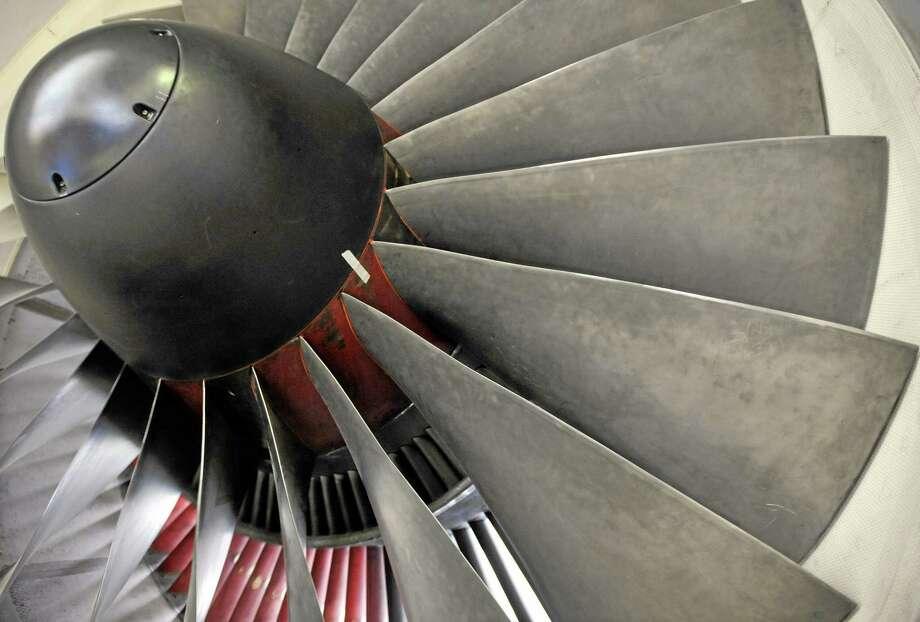 A Pratt & Whitney engine at company headquarters in East Hartford, Conn. Photo: AP Photo/Jessica Hill, File  / FR125654 AP