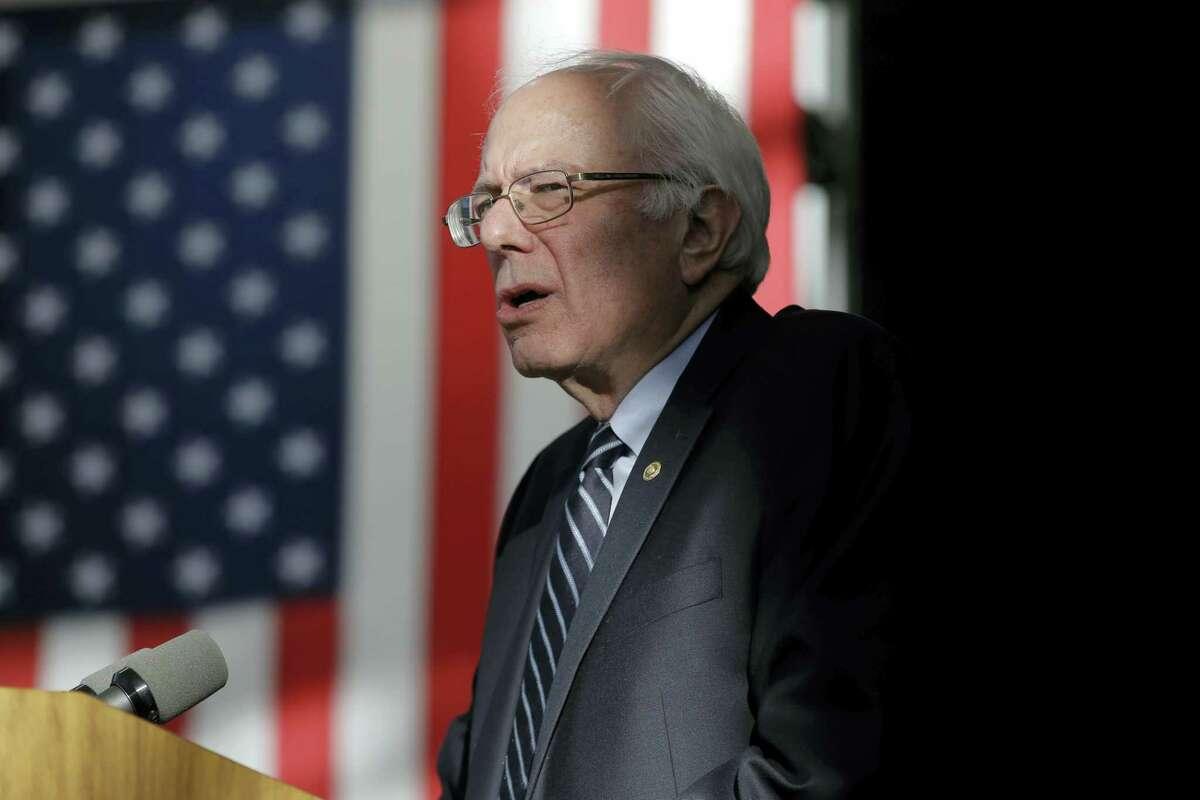 ASSOCIATED PRESS Democratic presidential candidate Sen. Bernie Sanders, I-Vermont, speaks at the Nevada Caucus Watch Party Saturday in Henderson, Nevada.