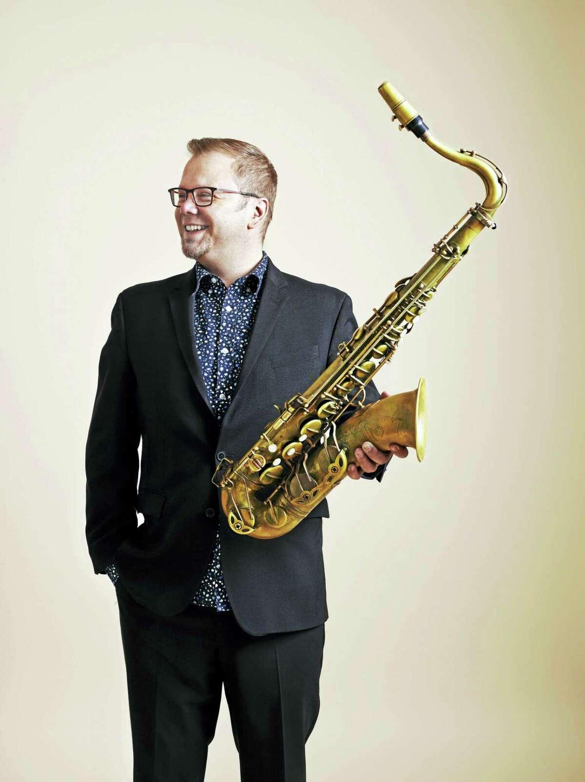 Dan Pratt and his sax.