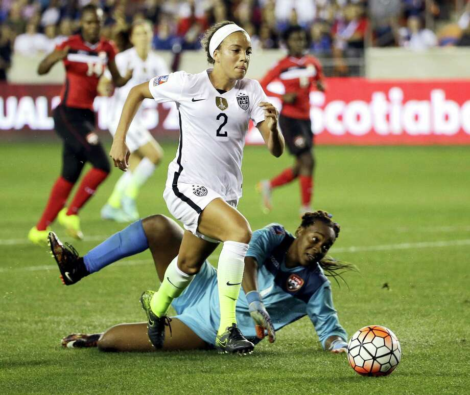 Mallory Pugh is just 17 years old, but she's already earning high praise from her teammates on the U.S. women's soccer national team. Photo: The Associated Press File Photo  / AP