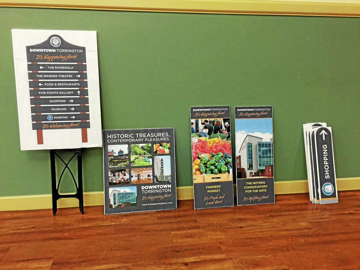 BEN LAMBERT — THE REGISTER CITIZEN New branding imagery for downtown Torrington, which was recently unveiled at the celebration of the city's 275th anniversary and shared with the City Council Monday evening.