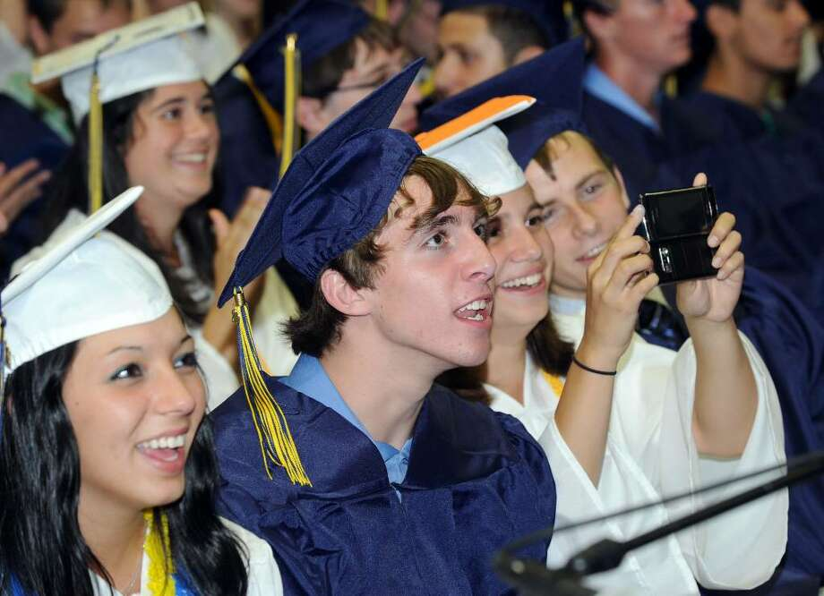 Brookfield High School class of 2010 graduated Saturday night, June 19 at the O'Neille Center. Photo: Carol Kaliff / The News-Times