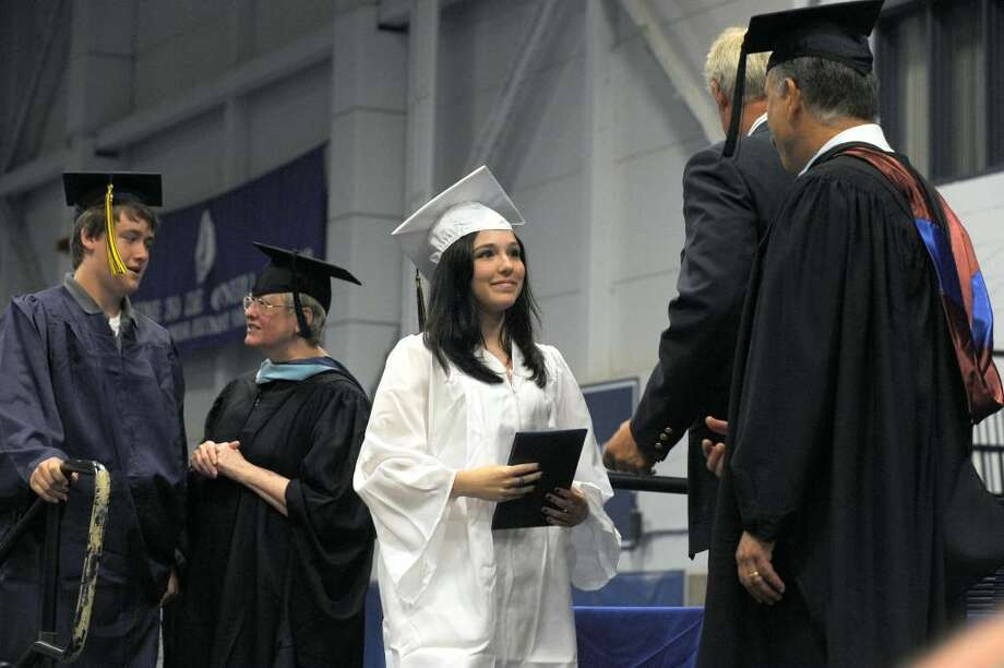 Brookfield High School class of 2010 held it's graduation ceremony Saturday, June 19 at the O'Neille Center in Danbury. Photo: Carol Kaliff / The News-Times