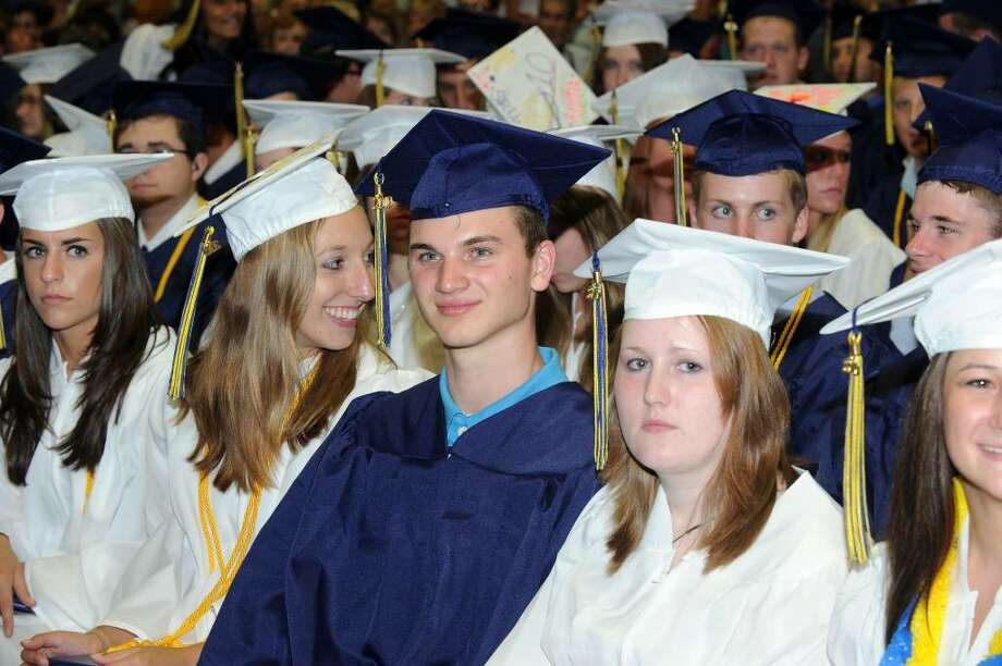 Brookfield High School class of 2010 held it's graduation ceremony Saturday, June 19 at the O'Neill Center in Danbury. Photo: Carol Kaliff / The News-Times