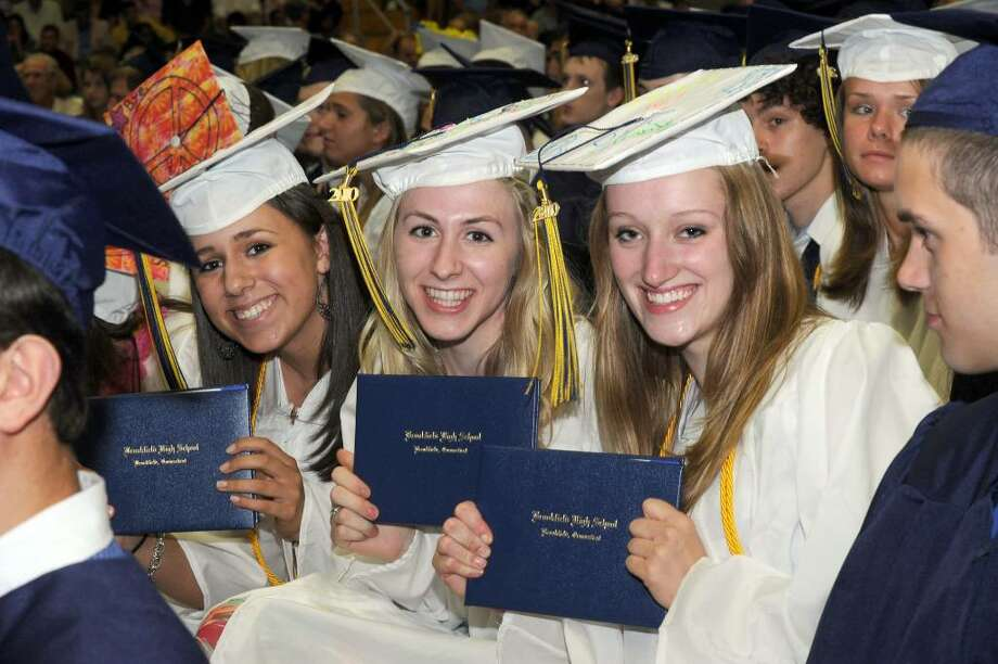 Brookfield High School class of 2010 held it's graduation ceremony Saturday, June 19 at the O'Neill Center. Photo: Carol Kaliff / The News-Times