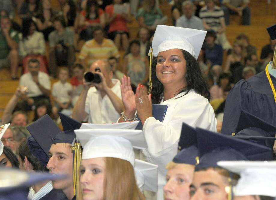 Brookfield High School class of 2010 held it's graduation ceremony Saturday, June 19, at the O'Neill Center. Photo: Carol Kaliff / The News-Times