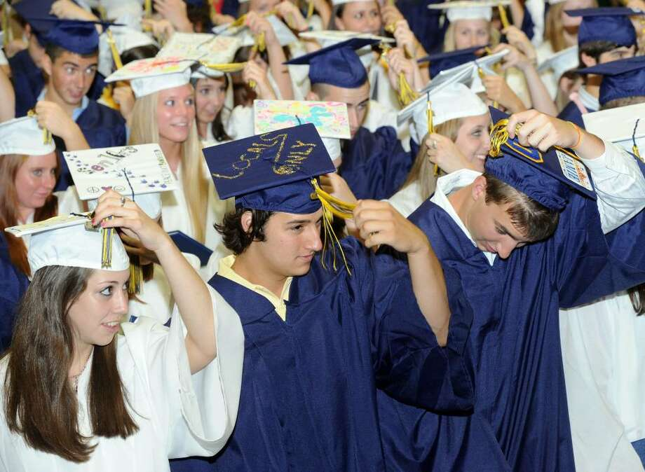 Brookfield High School class of 2010 held it's graduation ceremony Saturday at the O'Neill Center. Photo: Carol Kaliff / The News-Times