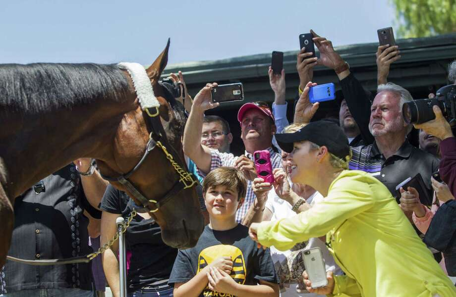 Since American Pharoah completed his sweep of the Kentucky Derby, Preakness and Belmont Stakes, the past few weeks have turned into a whirlwind of appearances, events and parties around the country for the horse, owner Ahmed Zayat, trainer Bob Baffert and jockey Victor Espinoza. Photo: The Associated Press File Photo  / FR170512 AP