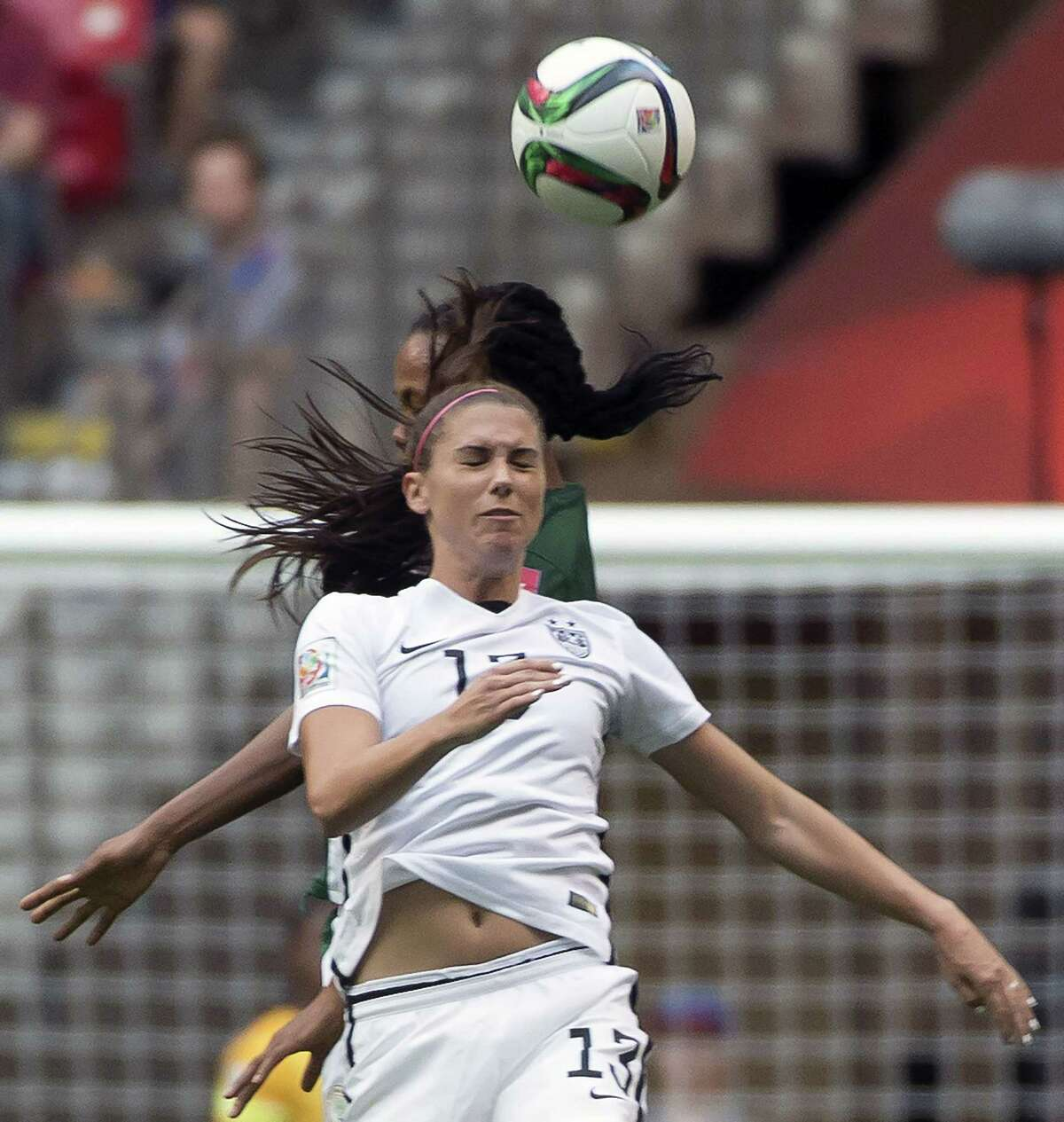 Alex Morgan and the U.S. women's soccer team will play Columbia on Monday in the knockout round.