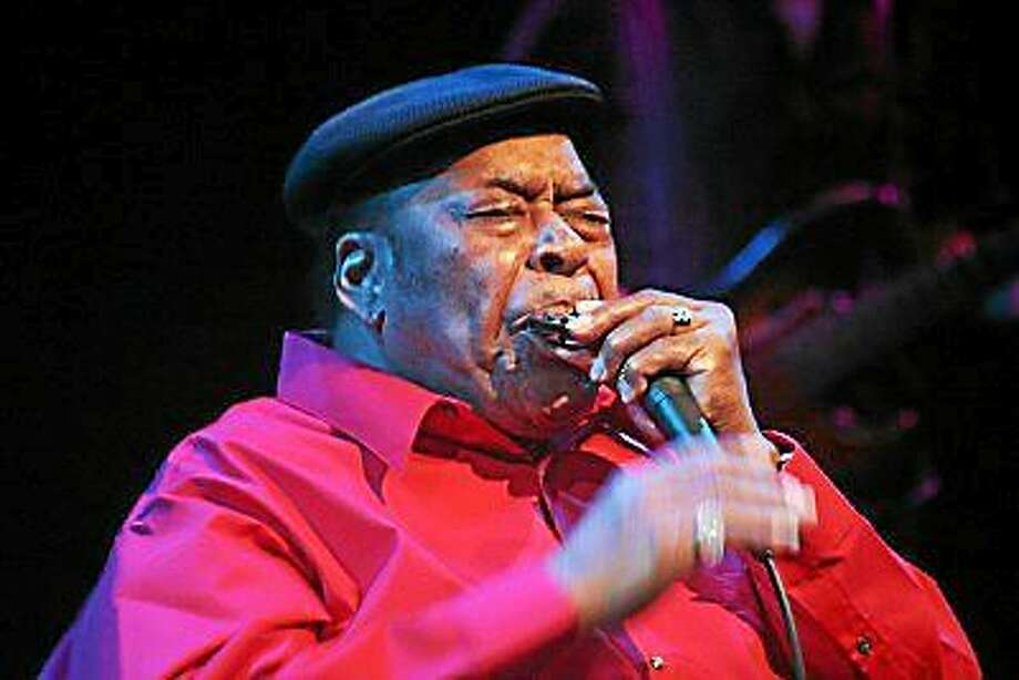 Photo by Dom Forcella James Cotton is performing at the Katharine Hepburn Cultural Arts Center Friday, Feb. 20. Photo: Journal Register Co.