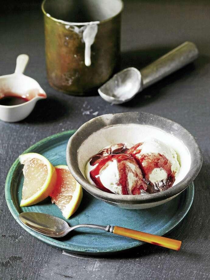 Grapefruit-honey softer-serve ice cream. Photo: Photo Courtesy Of Tina Rupp