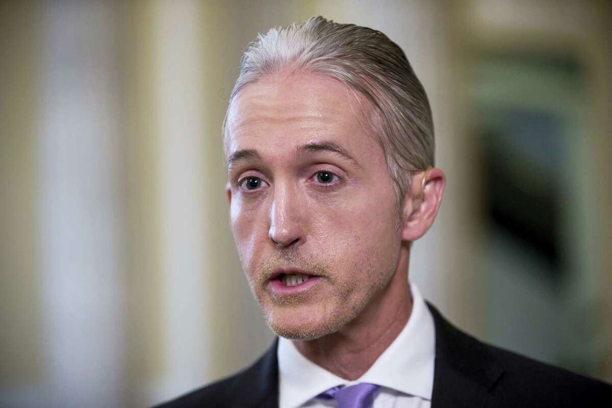 House Benghazi Committee Chairman Rep. Trey Gowdy, R-S.C., speaks during a TV news interview with MSNBC, on Capitol Hill in Washington on June 28, 2016, to discuss the release of his final report on the 2012 attacks on the U.S. consulate in Benghazi, Libya, where a violent mob killed four Americans, including Ambassador Christopher Stevens.