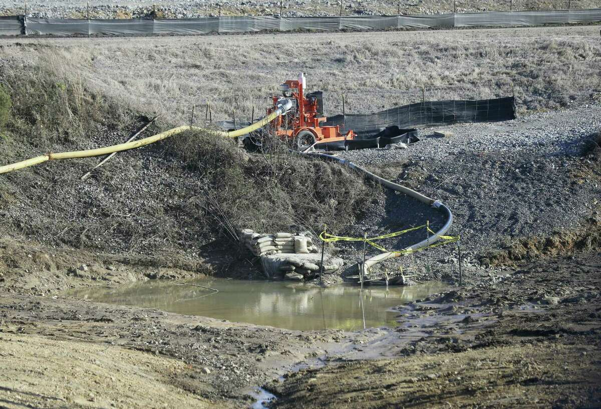 A drainage pipe that was the original culprit of the coal ash spill is shown at the Dan River Steam Station in Eden, N.C. Duke Energy Corp. is digging up and hauling away from riverbanks the toxic coal residues two years after one of the worst coal-ash spills in U.S. history.