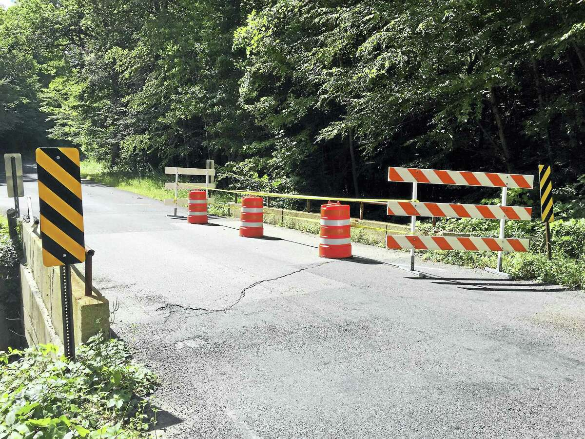Ben Lambert - The Register Citizen Lovers Lane Bridge's support stability is a concern, and the city voted last week to repair it.