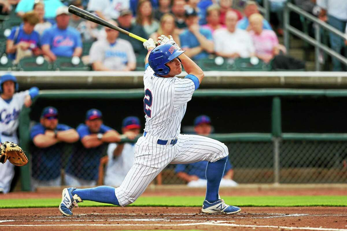 Former UConn star John Andreoli is hitting .312 with 18 stolen bases for the Triple-A Iowa Cubs.