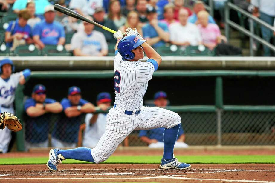 Former UConn star John Andreoli is hitting .312 with 18 stolen bases for the Triple-A Iowa Cubs. Photo: Photo Courtesy Of Iowa Cubs