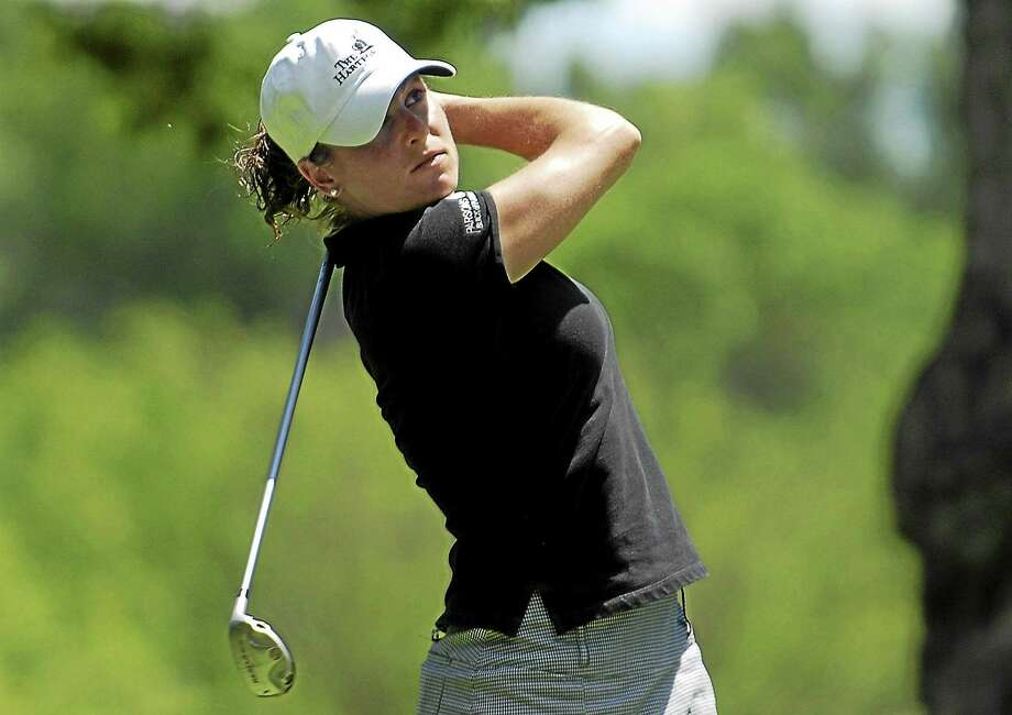 Liz Caron, shown here from a tournament in 2007, played in the Women's PGA Championship last week. Photo: The Associated Press File Photo  / AP