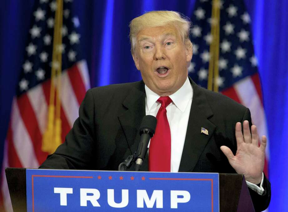 In this June 22, 2016, file photo, Republican presidential candidate Donald Trump speaks in New York. From the start, Trump'Äôs call 'Äúfor a total and complete shutdown of Muslims entering the United States'Äù has been a signature of the Republican'Äôs campaign for president. Yet from that first moment, the White House candidate has evaded questions when pressed for details. Now, faced with sliding poll numbers, his spokeswoman says he'Äôs no longer seeking the ban at all. Photo: AP Photo/Mary Altaffer   / Copyright 2016 The Associated Press. All rights reserved. This material may not be published, broadcast, rewritten or redistribu